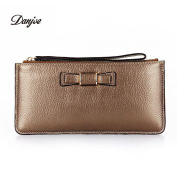 Luxury women wallets genuine leather designer wallet lady natural real leather fashion clutch casual womens purses clutch bag