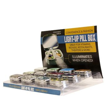 Elite Pill Box with Light - CASE OF 24