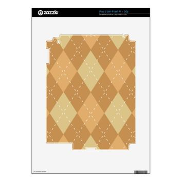 Brown Argyle Like Pattern Skin For The iPad 2
