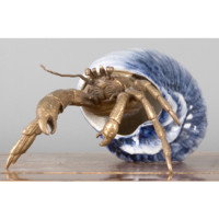Hermit Crab Figurine in Blue Shell (Porcelain)