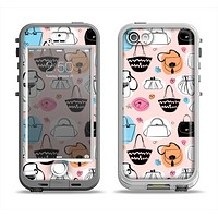 The Subtle Pink And Purses Apple iPhone 5-5s LifeProof Nuud Case Skin Set