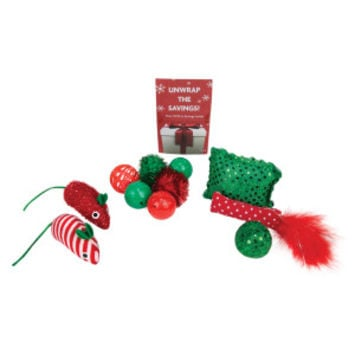 Grreat Choice® Pet Holiday™ 11-Pack Stocking Cat Toy