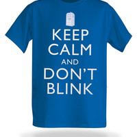 Keep Calm and Don't Blink T-Shirt - Royal Blue,