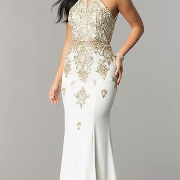 Long Open-Back Prom Dress from JVNX by Jovani