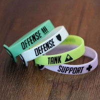 Overwatch Silicone Role Bracelets