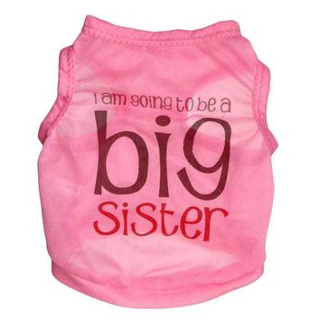 Dog Big Sister T Shirt