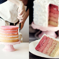 Wedding Cake of the Week: Pink Ombre Layers : Brides