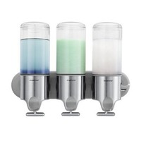 simplehuman Stainless Steel Wall-Mount Pumps, Triple Shampoo & Soap Dispenser:Amazon:Home & Kitchen