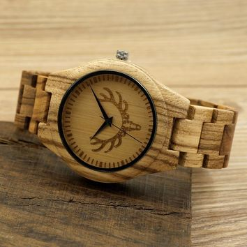BOBO BIRD Brand All Wooden Men's Watches Casual Luxury Wood Strap Wristwatch For Men as Gifts