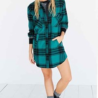 BDG Padded Lumberjack Button-Down Shirt- Green