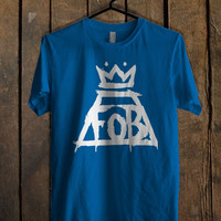 Fall Out Boy Logo Blue Mens T Shirt **