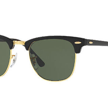 Ray-Ban Polarized RB3016 CLUBMASTER 49 Sunglasses | Sunglass Hut