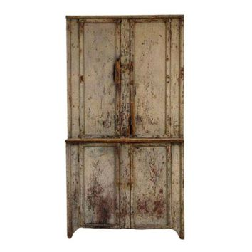 Pre-owned Primitive Wooden Cabinet