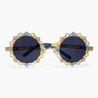Moon & Stars Sunglasses - Gold/Rainbow/Grey Lenses