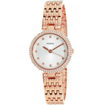 Fossil Women's ES3347 Olive Analog Display Analog Quartz Rose Goldtone Watch | Overstock.com Shopping - The Best Deals on Fossil Women's Watches