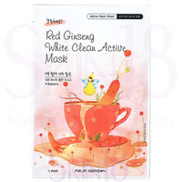 Four Season Red Ginseng White Clean Active Mask (Whitening Function)