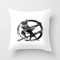 HUNGER GAMES PIN Throw Pillow by Arda