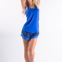 Work Out Racerback Tank - Royal Blue