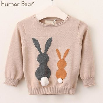 Autumn Cartoon Little Rabbit Design Kids Sweater Children clothes Girls and Boys