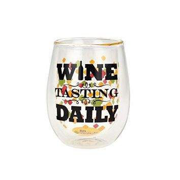 Top Shelf Double Wall Stemless Wine Tasting Daily Wine Glass Multicolor Red or White Wine Unique amp Fun Gift Ideas for Men Women Friends and Family Humorous Gift for Wine Enthusiasts