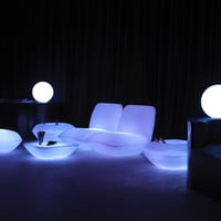 Polyethylene garden pouf PILLOW Collection by VONDOM | design Stefano Giovannoni