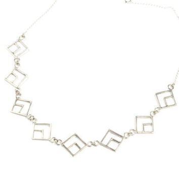 Sterling Silver Aztec Detailed Necklace