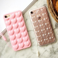 Best Protection Heart-shaped iPhone 7 7 Plus & iPhone 6 6s Plus & iPhone 5s se Case Personal Tailor Cover-0321