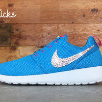 Nike Roshe One Customized by Glitter Kicks - Pink/Blue