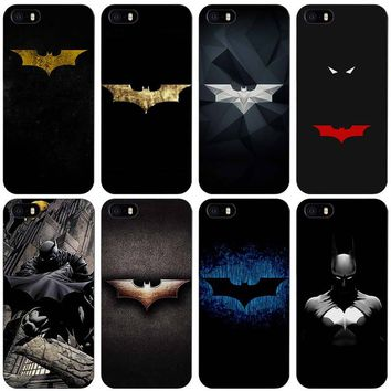 superhero batman Black Plastic Case Cover Shell for iPhone Apple 4 4s 5 5s SE 5c 6 6s 7 Plus