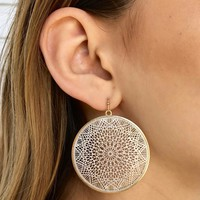 Mandala Intricate Hoop Earrings