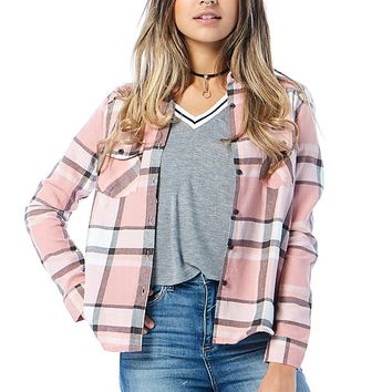 Not Young Anymore Plaid Shirt Top