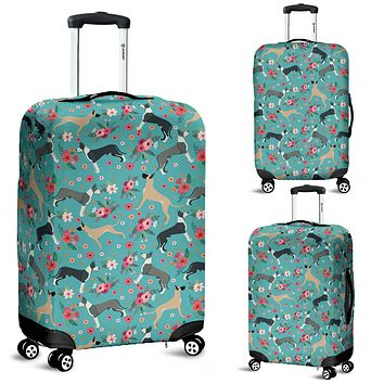 Great Dane Flower Luggage Cover
