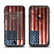 The Wooden Grungy American Flag Apple iPhone 6 LifeProof Fre Case Skin Set