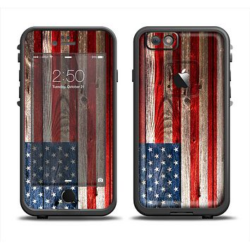 The Wooden Grungy American Flag Apple iPhone 6/6s LifeProof Fre Case Skin Set