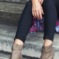 Taupe Around Booties