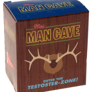 Man Cave Kit Book Mega Mini Manly Stickers Recliner Fuzzy Bear Rug Gag Gift