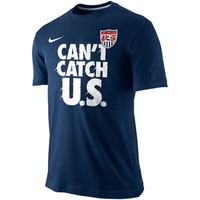 Nike USA Soccer Verbiage T-Shirt - Navy Blue