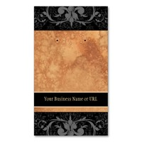 Custom Earring Cards Black Gray Vintage Damask