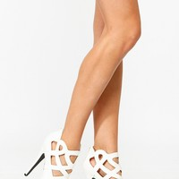 Qupid White Abstract Cut Out Peep Toe Heels @ Cicihot Heel Shoes online store sales:Stiletto Heel Shoes,High Heel Pumps,Womens High Heel Shoes,Prom Shoes,Summer Shoes,Spring Shoes,Spool Heel,Womens Dress Shoes,Prom Heels,Prom Pumps,High Heel Sandals
