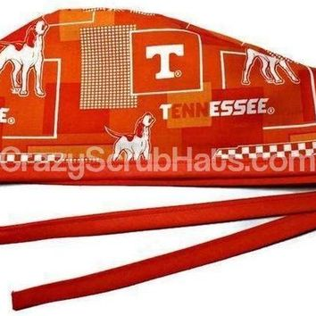 Men's Unlined Surgical Scrub Hat Cap in Tennessee Volunteers VOLS New Block
