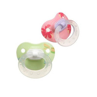 Gerber NUK Silicone BPA Free Pacifier Size 2 (6 mo+) - 2 Pack - Girls