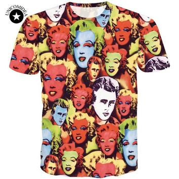 Brand Marilyn Monroe Paparazzi T-Shirt 3d Summer Style Tee Funny T Shirt Women Men Harajuku Top Tee Hipster Plus Size Camiseta