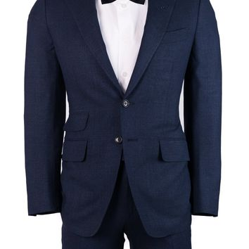 Tom Ford Mens Navy Chambray Wool Blend O'Connor 2 Piece Suit