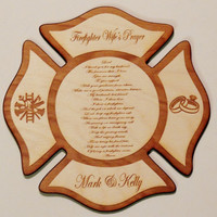 Firefighter Wife's Wood Plaque