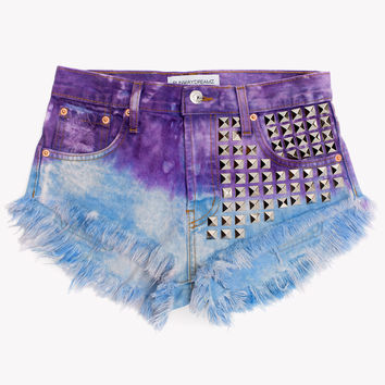 902 Cosmic Studded Babe Shorts