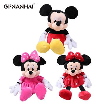1pc 28cm cute classical Mickey red Minnie and pink Minnie plush toy stuffed soft lovely animal doll for kids birthday gift