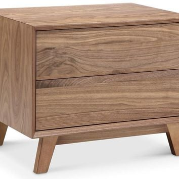 Victory 2 Drawer Side Table WALNUT
