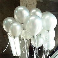 1.5g Pearl Latex Balloons 100pcs/Lot 10 Inch Silver Vintage Wedding Decoration Baby Shower Decorations Party Decoration Baby