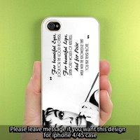 Audrey Helpburn Quote iPhone Case for iPhone 5, iPhone 4/4S Hard Cover Plastic