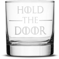Premium Whiskey Glass, Game of Thrones, Hold the Door, 10oz